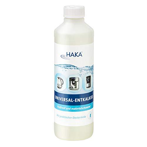 HAKA Universalentkalker für Kaffeevollautomaten I 500 ml I Entkalker für Vollautomaten, Kaffeemaschinen, Wasserkocher I Flüssig Entkalker auf natürlicher Basis