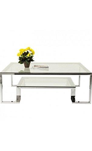 Kare design - Table basse 120 cm verre et chrome RUSH