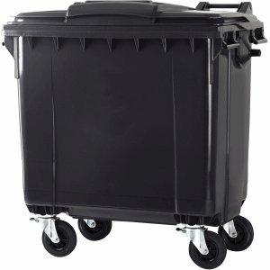 *CEP Abfall-Container 770l 4 Räder grau grauer Deckel*