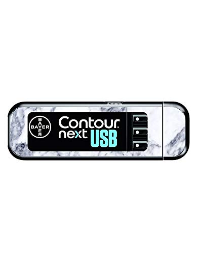 Diabetes Vinyl Sticker Bayer Contour Next USB - Marble