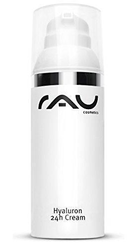 Gesichtscreme mit Anti-Aging Effekt - RAU Hyaluron 24h Cream 50 ml - für trockene Haut mit...