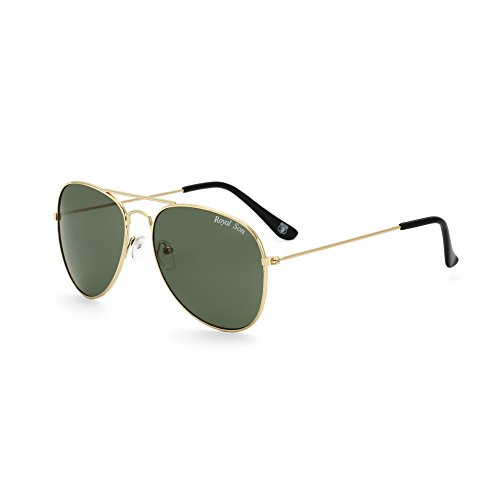 Royal Son UV Protected Aviator Sunglasses For Men And Women (RS003AV|58|Green Lens)