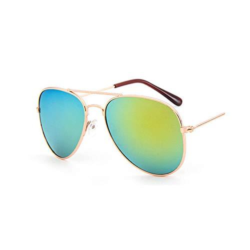 Vikimen Sportbrillen, Angeln Golfbrille,NEW Lovely-Brand-Designer-Sun-Glasses-For-Children-Cool-Mirror-Reflective-Meta L-Frame-Kids-Sunglasses-Girls Sunglass 3