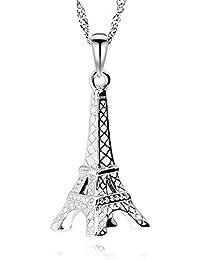 a4eb5f64f2d9 GemsChest Eiffel Tower - Colgante de Plata de Ley 925 con diseño de Torre  Eiffel