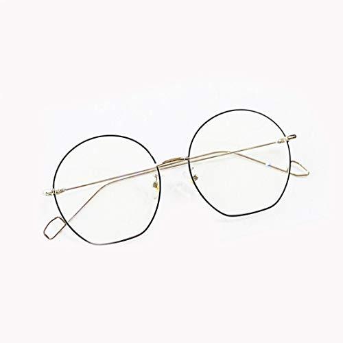 Shiduoli Brillen Brillengestell Brillenglas Brillen für Männer, Frauen und Frauen (Color : Black-Silver)