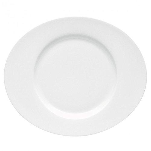 DEGRENNE - Boreal Blanc Lot de 3 assiettes de présentation ovale 34,5x29 cm