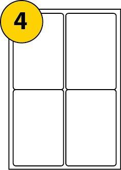 4 Labels Per Page x 50 A4 Sheets = 99mm