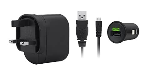 Belkin Micro USB Universal Charging Kit for Smartphone – (UK AC Wall Plug, In-car Charger, 1.2m Micro USB