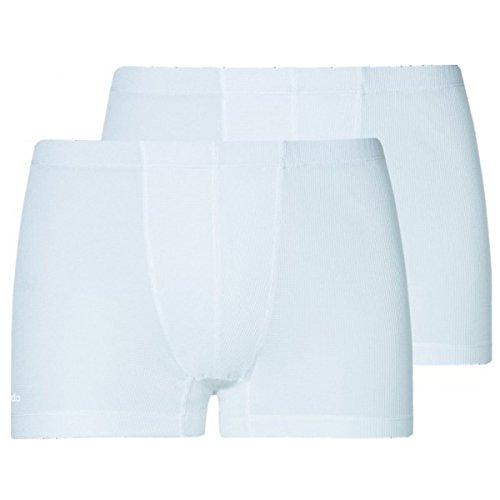 Odlo Herren Boxer Cubic 2 Pack Unterhose white