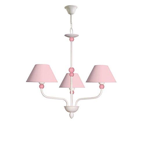 Lámpara infantil de techo de 3 luces color blanco con detalle de bola