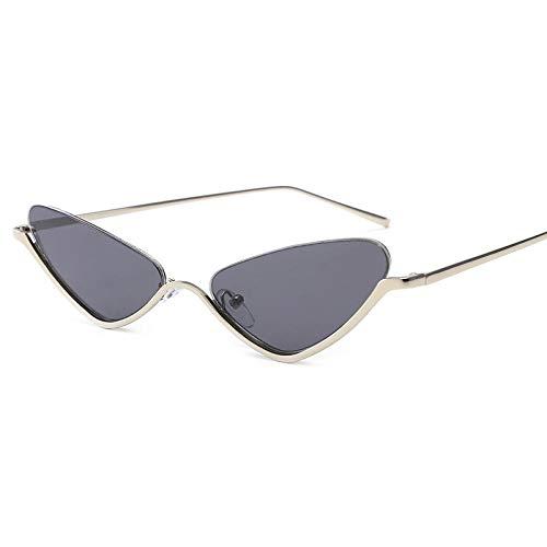 fuqiuwei Sonnenbrillen Dreieck Retro Halbbild Brille Hipster Weibliche Sonnenbrille Konkav Modellierung Sonnenbrille A