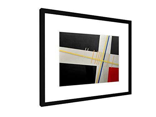 weewado László Moholy-Nagy - Am 3-1923 - 40x30 cm - Bild mit Rahmen/Gerahmtes Poster - Kunstdruck - Wandbild - Kunst, Gemälde, Foto, Bild - Alte Meister/Museum - Bauhaus-kunst