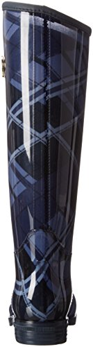 Tommy Hilfiger - O1285xbridge 6r, Stivali alti da pioggia Donna Multicolore (Mehrfarbig (blue mix 490))