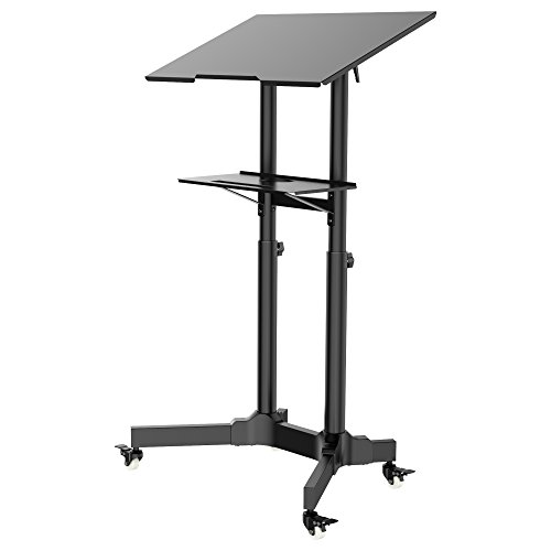 Metall Stahl Workstation (1home Mobile Laptoptisch Ständer Halterung Notebook Wagen Trolley Verstellbare Workstation)