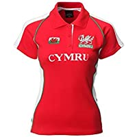 Wales Welsh 'PANEL' Short Sleeve Ladies Rugby Shirt (18/20)