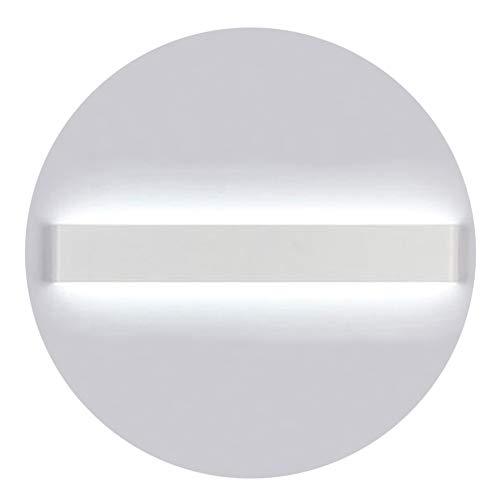 K-Bright LED Spiegellampe Badleuchte,16W,20 Zoll,Wandleuchte Schranklampe IP44,AC 86-265V Make up licht,Spiegellicht für Bild Display Wohnzimmer Flur Schlafzimmer Treppen,6000-6500K Weiß,Weiß Schale (20 Zoll Bad-spiegel)
