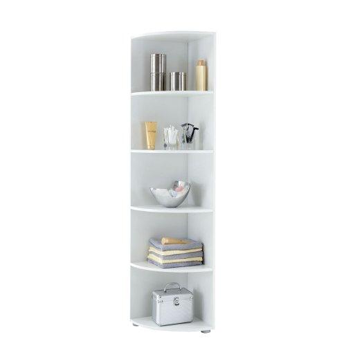 FMD Möbel 249-002 Eckregal Ecki 2 40 x 180 x 40 cm, weiß