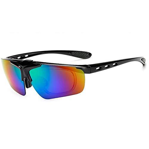 New Flip Sonnenbrille Männer und Frauen Reiten Brille Fahrrad Outdoor-Sportbrillen Myopie Sonnenbrille Brille (Color : 3, UnitCount : 2PCS)