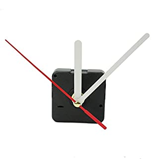AllLife Quartz Uhrwerk-Set, Zeiger Weiß / Rot, Schwarz