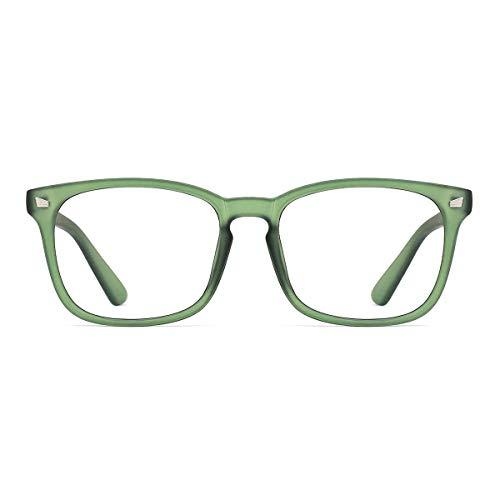 TIJN Blaulichtfilter Brillen Anti blaulicht Damen Herren Brillen ohne sehstärke Computer Brillen Gaming Brillen für PC Handy und Fernseher