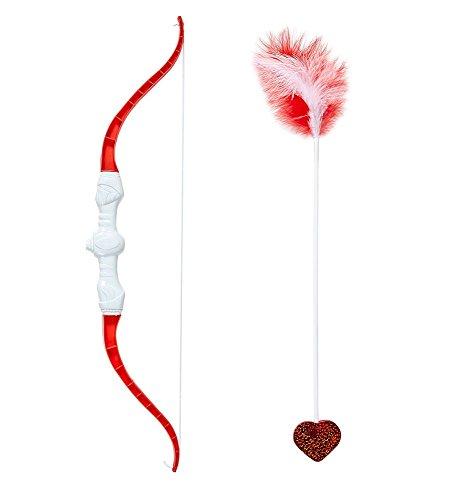 shoperama Amor Pfeil und Bogen Set Amorpfeil Liebesbote Gott der Liebe Cupido - Kostüm Pfeil Und Bogen Set
