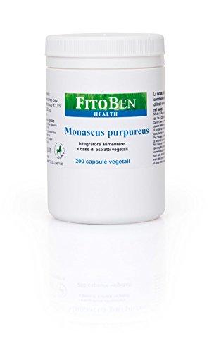 Fitoben - Monascus Purpureus 200 Integratore Alimentare Naturale Per Il Controllo Del Colesterolo 200 Cps