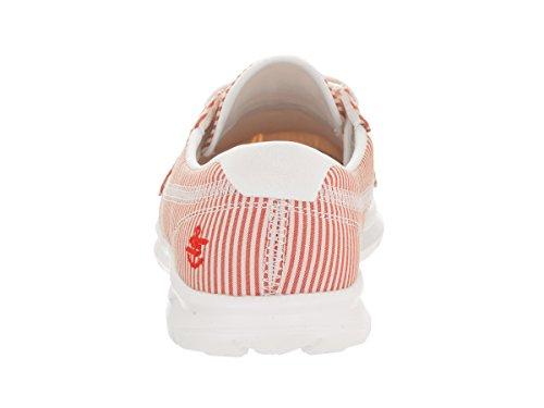 Sabbia Donna Barca Da Vanno Passo Bianco Rosso Scarpe Skechers q1wfa5zx