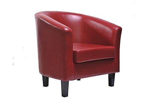 MCC Sessel, Clubsessel, Lounge- & Cocktailsessel aus Kunstleder, klassisches Design in 4 Farben...