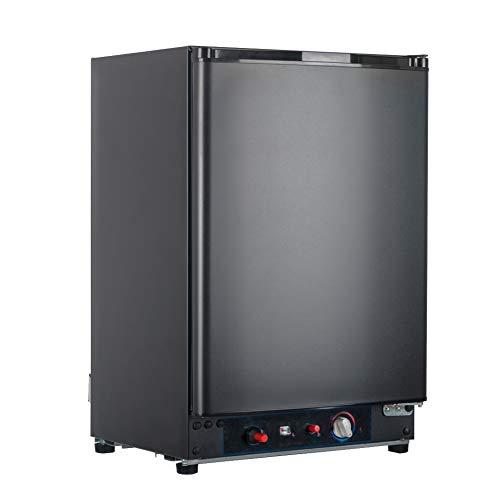 SMAD Mini Kühlschrank 60L Tragbarer Gas-Kühlschrank 220V / 12V / LPG Gas Elektroabsorption Propankühler schwarz (XC-60)
