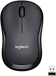 Logitech M221 Wireless Mouse, Silent Buttons, 2.4 GHz with USB Mini Receiver, 1000 DPI Optical Tracking, 18-Mo