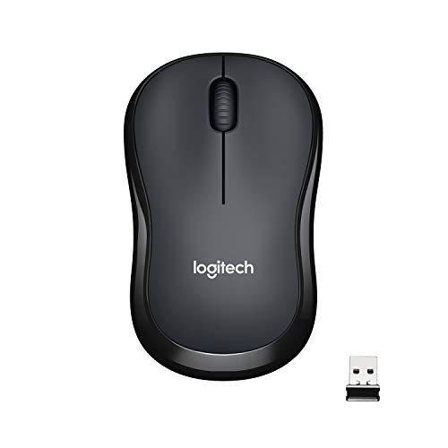 Logitech M220 Wireless Mouse, Silent Buttons, 2.4 GHz with USB Mini Receiver, 1000 DPI Optical Tracking, 18-Month Battery Life, Ambidextrous PC / Mac / Laptop - Charcoal Grey