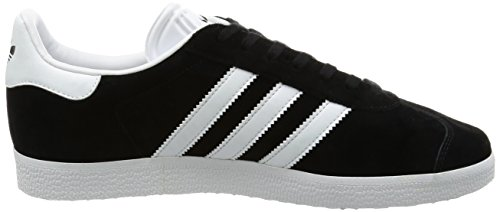 adidas Gazelle, Baskets Mixte Adulte Noir (Core Black/White/Gold Metallic 0)