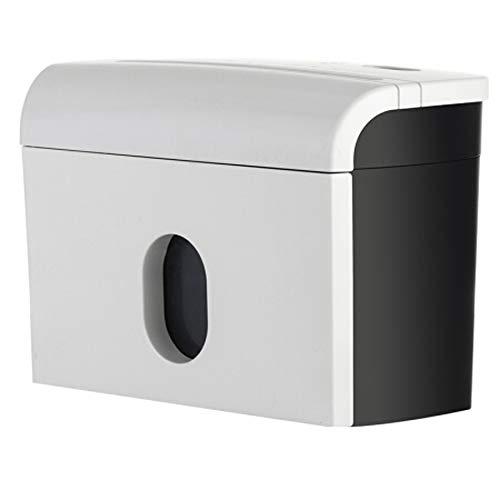 CuiXiangUK Aktenvernichter, Desktop, Mini-Haushalt, Kleiner Aktenvernichter, 5 Vertraulichkeitsstufen, 3 Blatt à 5 Minuten, 3,5 l, Geeignet für Privatbüros/Privathaushalte, Weiß
