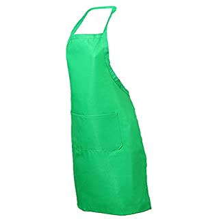 Amybria Women's Chefs Butchers Kitchen Cooking Craft Baking Apron with Front Pocket Green