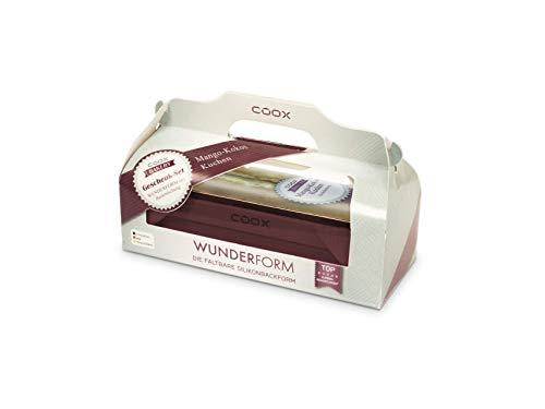 COOX WUNDERFORM Geschenk - Set MIT BACKMISCHUNG Kokos - Mango (Dunkelrot)