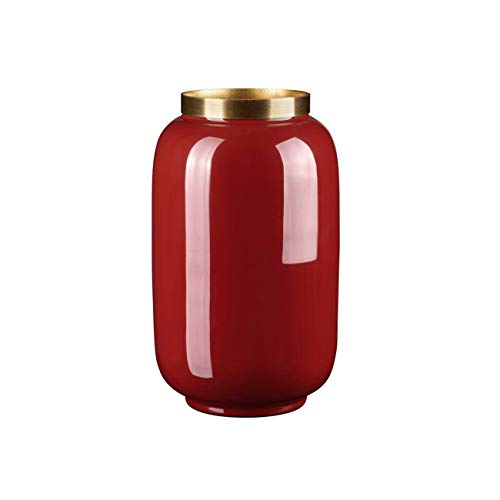 Gift Company Saigon Vase Carmine Red (3517C)/Gold 14X20X14Cm -