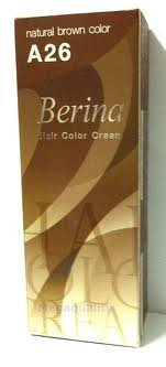 Berina Permanent Hair Dye Color Cream A26 Natural Brown A26..., Thailand (Loreal Care Professional Color)