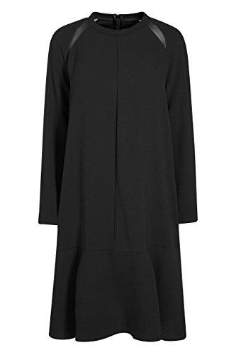 next Femme Petite Fit Robe Taille Basse En Tissus Mélangés Noir