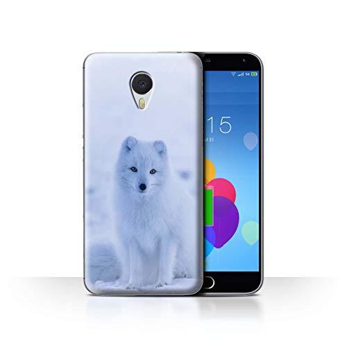 eSwish Hülle/Case für Meizu M3 Note/Weißer Polarfuchs Welpe Muster/Süß Baby Tier Fotos Kollektion