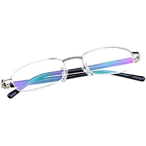 Haodasi occhiali da lettura telaio in metallo a specchio occhiali da lettura rivestimento
