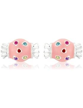 Pinke Süßigkeiten Ohrringe für Kinder