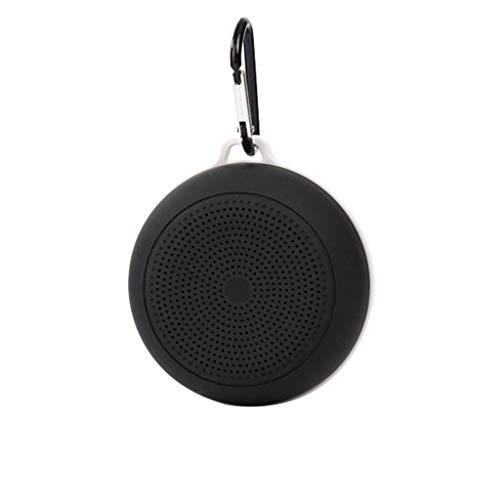 Mini Bluetooth Lautsprecher Tragbarer drahtloser wasserdichter Außenlautsprecher Lautsprecher Stereo Box FM Radio, Schwarz