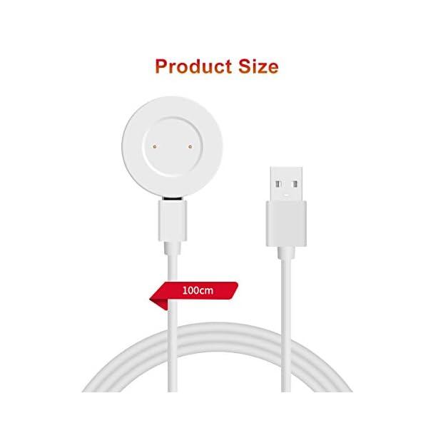 AIEVE Cable de Cargador para Huawei Watch GT, Base de Acoplamiento del Cable del Cargador de Repuesto con Protector de… 6