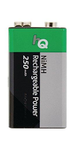 Eurosell - 10 Stück Akkus Premium Block Batterie wiederaufladbar - Wiederaufladbarer NiMH Akku 250...