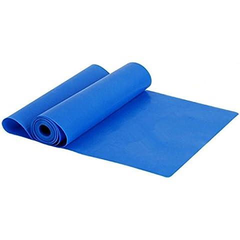 Sanway algod¨®n Accesorios de Yoga para Estiramiento de Pilates, ejercicios, Aerobic para extender el alcance, agarre extremidades pieza Tire, azul