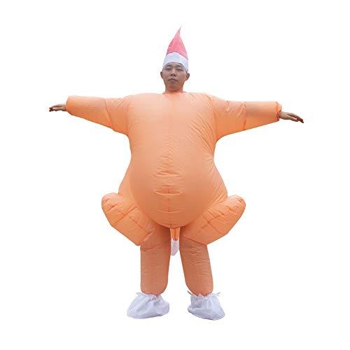 SSBH Erwachsene Aufblasbare Ganzkörper Truthahn Huhn Overall Cosplay Halloween Thanksgiving Weihnachten Lustige Kostüm Blow Up Party Spielzeug Aufblasbare Cartoon Fett Anzug Blow Up (Fett Blow Up Kostüm)