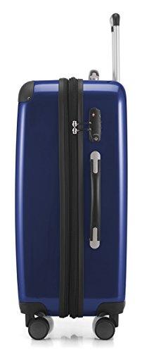HAUPTSTADTKOFFER - Alex - NEU 4 Doppel-Rollen Hartschalen-Koffer Koffer Trolley Rollkoffer Reisekoffer, TSA, 65 cm, 74 Liter, Dunkelblau - 2