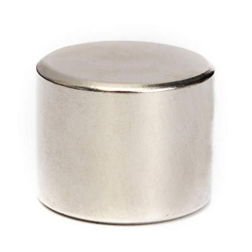 5 piezas Imán de tierras raras Neodimio,25x20mm disco fuerte estupendo redondo cylinde NdFeB material magnético N52 ganchos, permanente, DIY, edificio, científico, arte