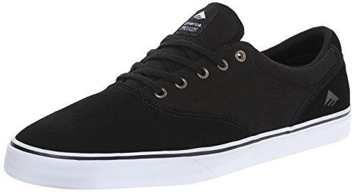 Emerica Provost Slim Vulc, Herren Skateboardschuhe, Schwarz (black/white/976), 42 EU (Cap Suede Canvas)