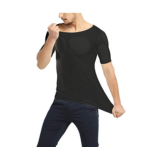 Einfache Kostüm Kein Aufwand - PAPIKOOL Bodybuilding Slim Fit T-Shirt Fälschung Brust Muskelshirt Simulationsmuskel Grundschicht Passen Jede Gelegenheit (Size : M)